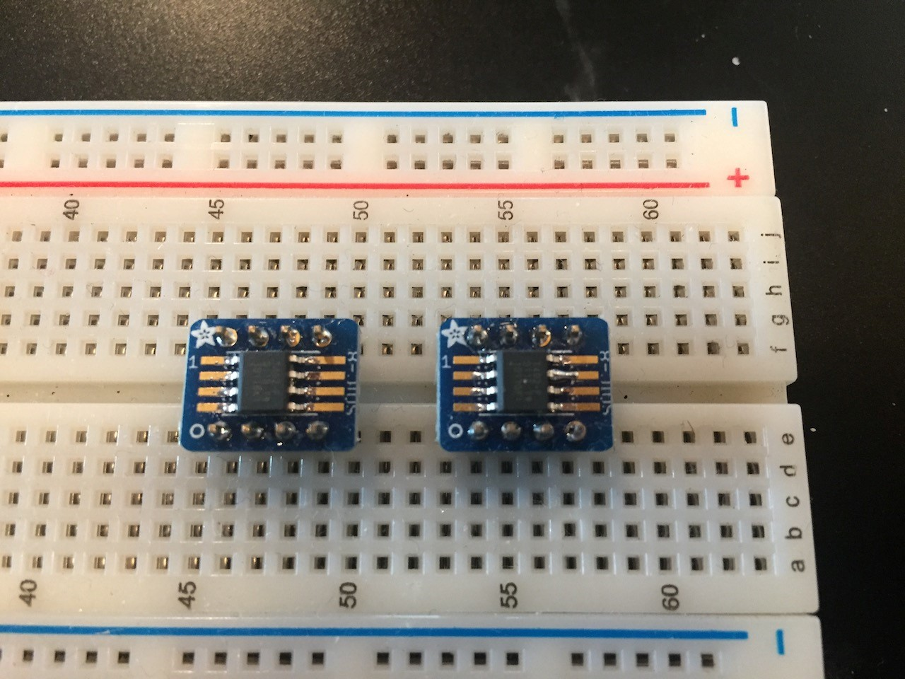 ATtiny 0 on breadboard